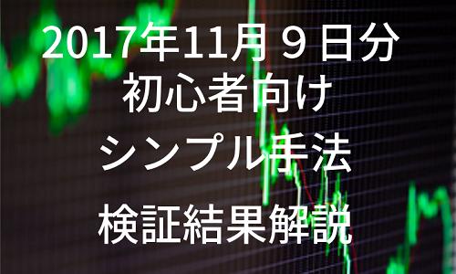 【FX初心者向け】シンプルな手法の検証結果・2017年11月9日(木)