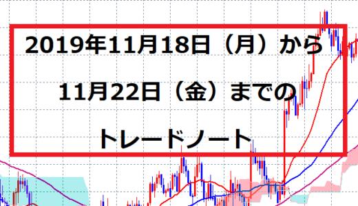 2019年11月18日(月)~22日(金)トレードノート