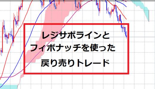 レジサポラインとフィボナッチで判断する戻り売り【EUR/JPY】