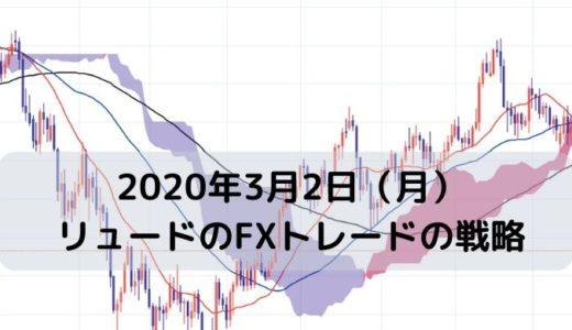 【2020年3月2日(月)】リュードのFXトレードの戦略