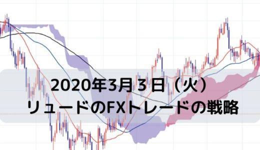 【2020年3月3日(火)】リュードのFXトレードの戦略