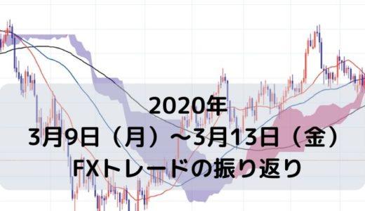 2020年3月9日(月)~13日(金)FXトレード振り返り【-71pips】