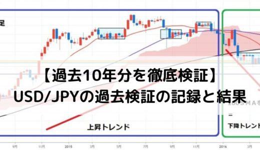 【FX10年分検証の記録】USD/JPY水平線を使った押し目買い